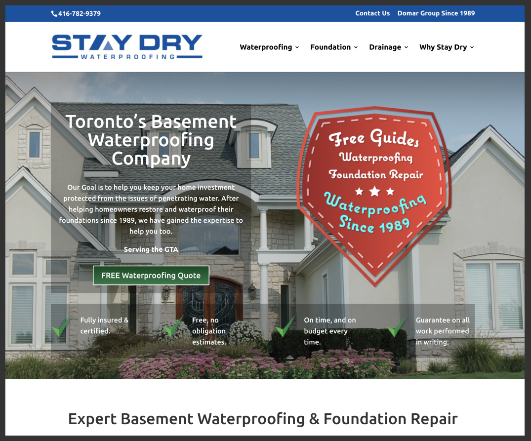 StayDry Waterproofing